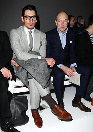 Blazer dress shirt dress pants oxford shoes pocket square socks large 524