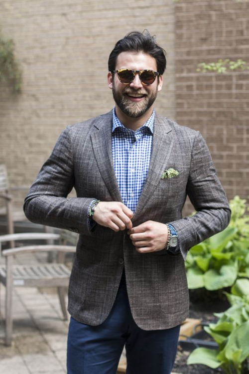How to Wear a White and Navy Gingham Dress Shirt (63 looks ...