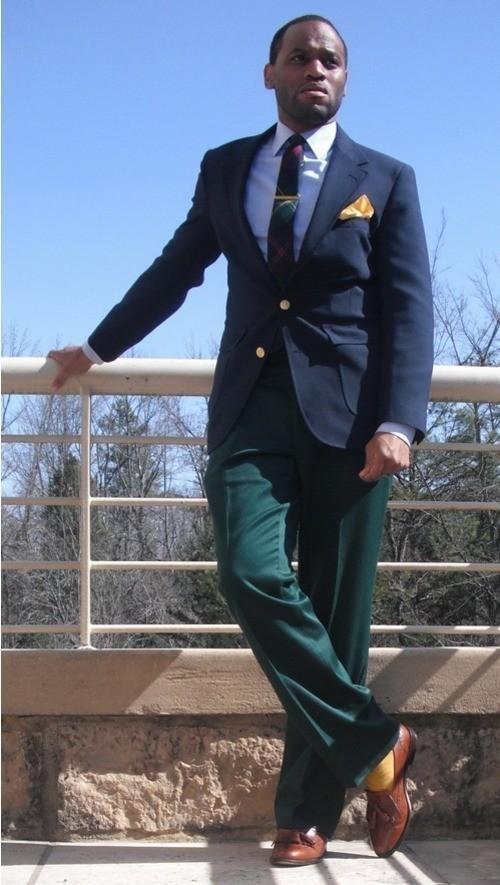 Green Dress Pants Brown