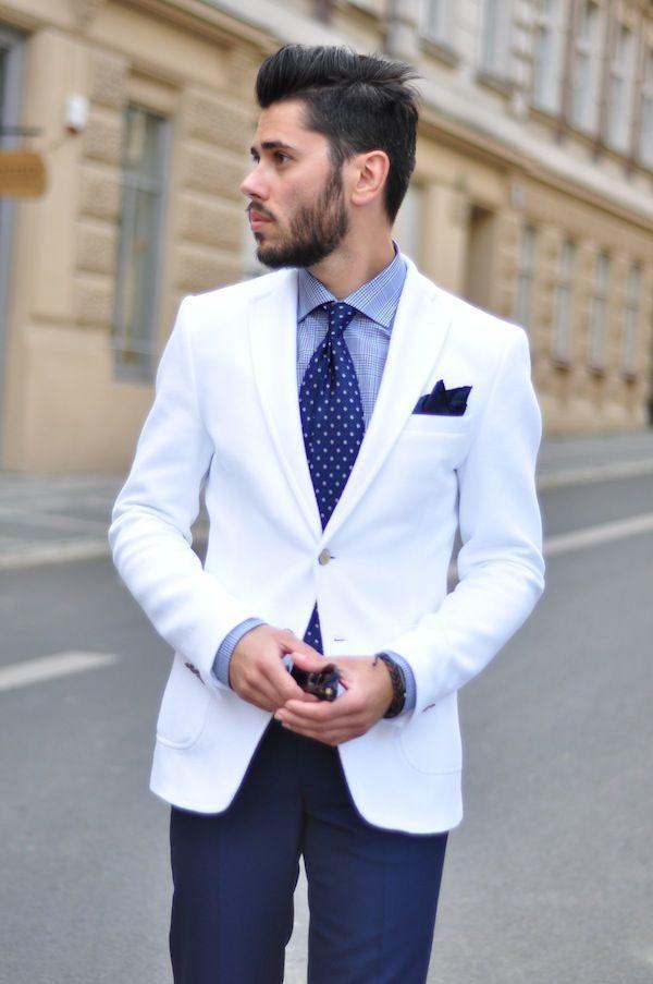 White Blazer Outfit Men Men's White Blazer