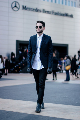 How To Wear a Blue Blazer With Black Jeans | Men's Fashion