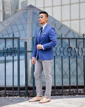 Light blue blazer pants with what color Men's Blazers