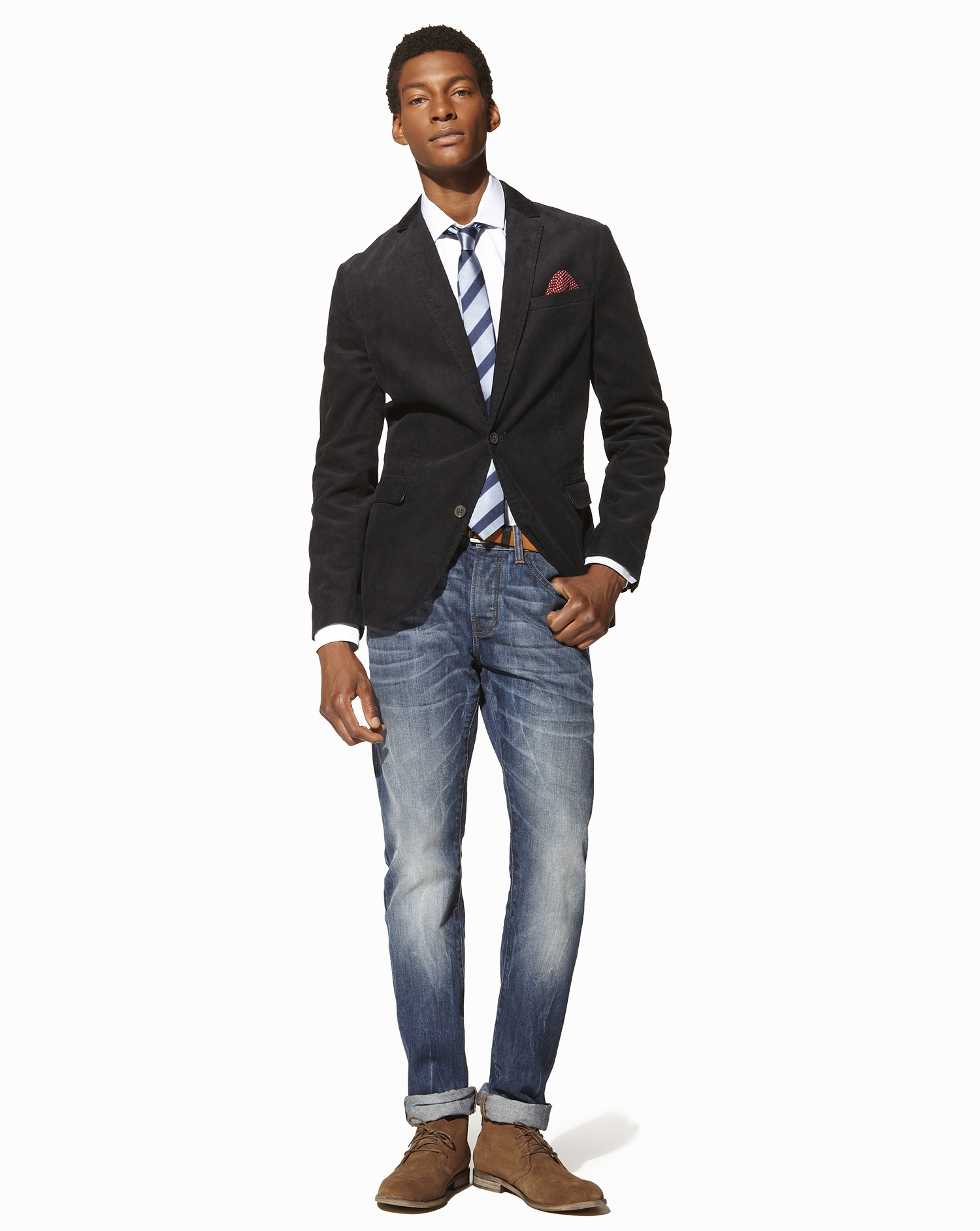 How To Wear Desert Boots With a White Dress Shirt | Men\'s Fashion