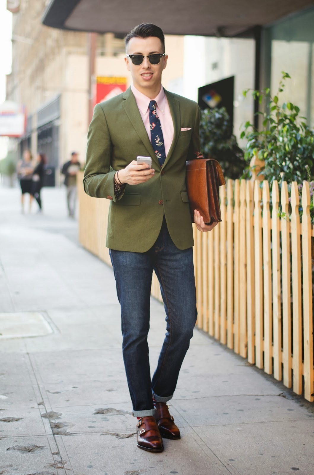 How To Wear a Dark Green Blazer With Blue Jeans | Men's Fashion