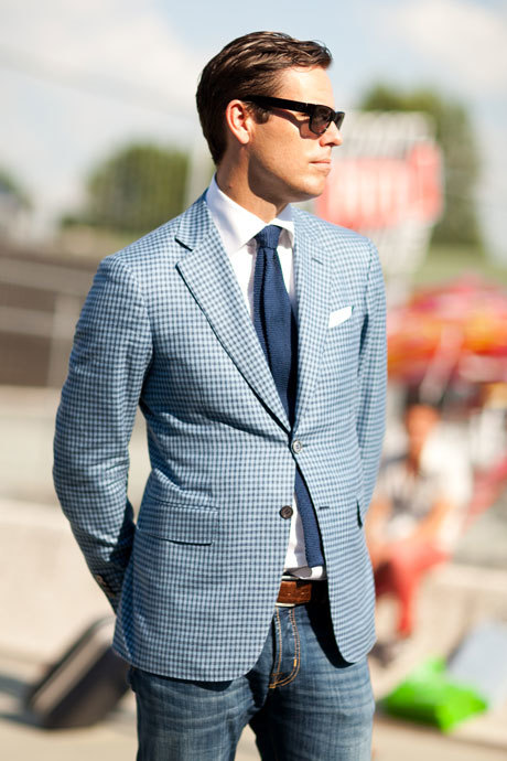 How To Wear a Light Blue Blazer With a White Dress Shirt | Men's ...