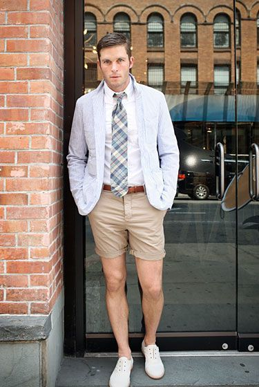How To Wear a White Dress Shirt With Beige Shorts | Men's Fashion