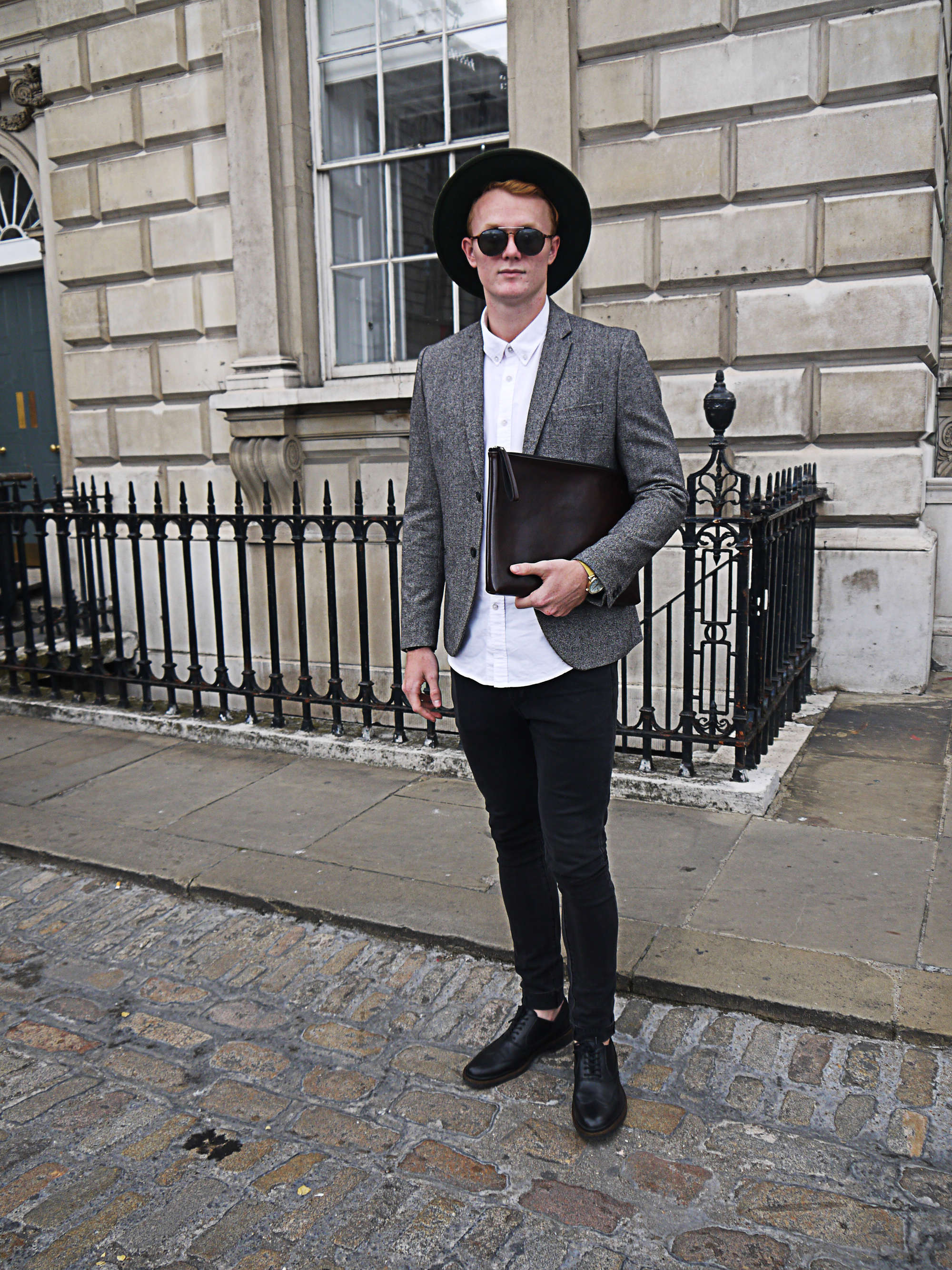 How To Wear A Grey Blazer With Black Oxford Shoes 15 Looks