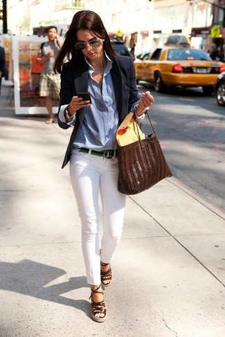 White blazer dress outfit
