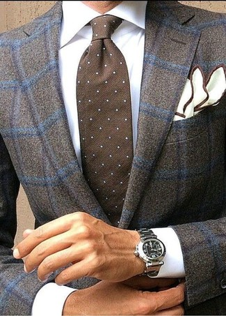 Contrast Line Pocket Square