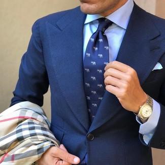 Skinny Fit Textured Suit Jacket