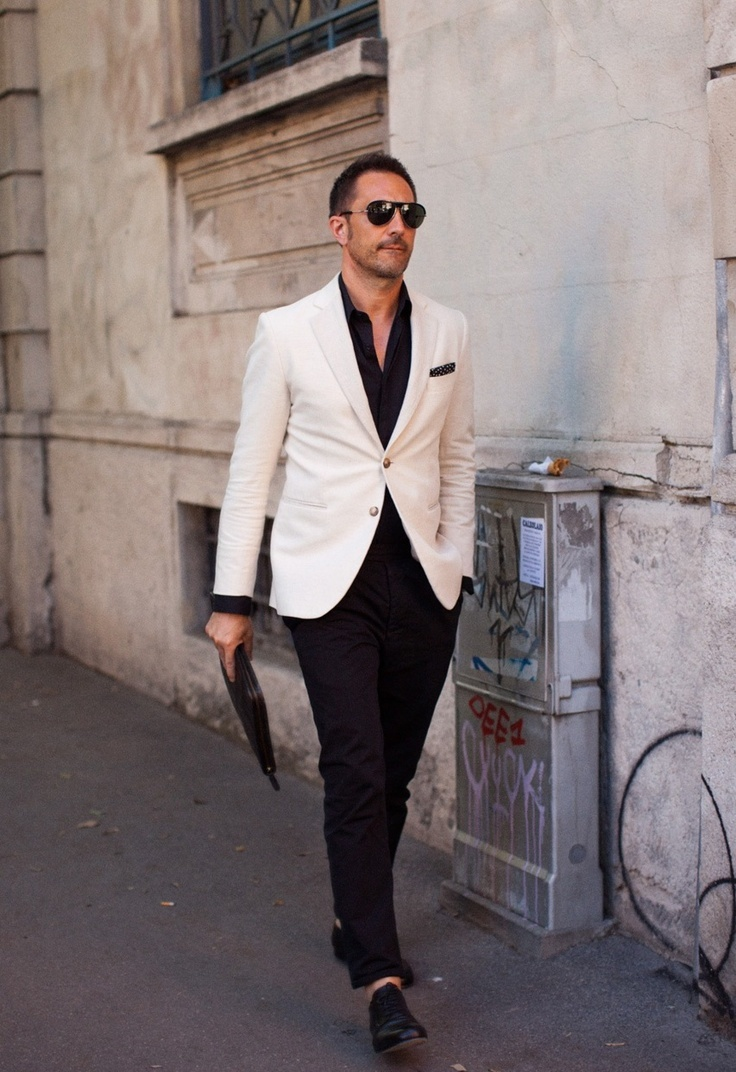 How to Wear a White Blazer (83 looks) | Men's Fashion