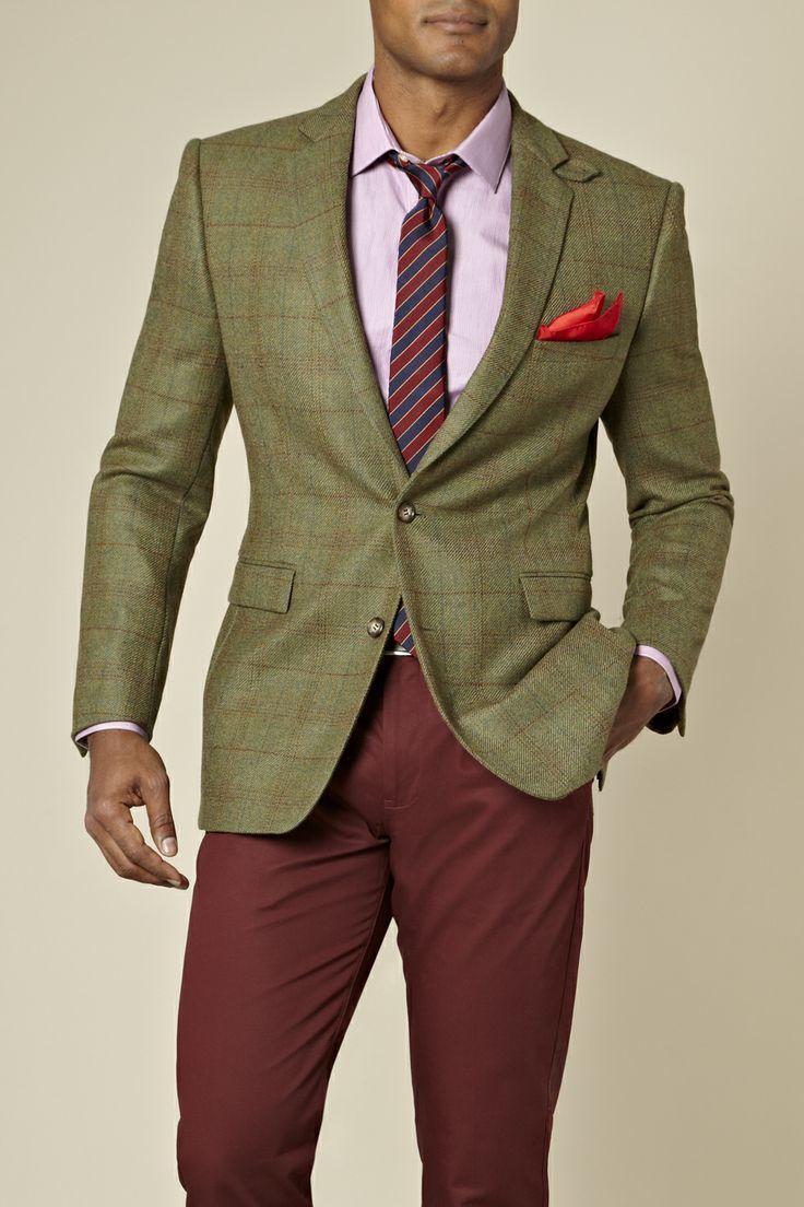 How to Wear a Dark Green Plaid Blazer (20 looks) | Men's Fashion