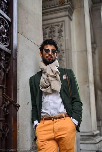 How to Wear a Dark Green Wool Blazer (27 looks) | Men's Fashion