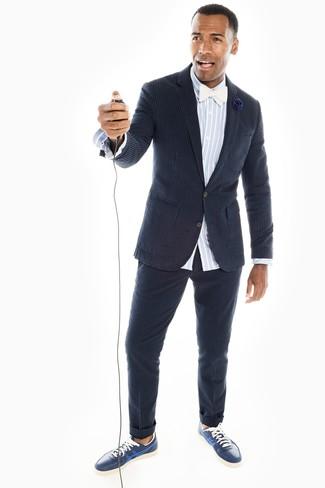 How To Wear A Navy Seersucker Blazer For Men 2 Looks Outfits