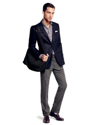 Collection Navy Blazer With Black Pants Pictures - Klarosa