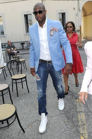 Light Blue Blazer | Men's Fashion