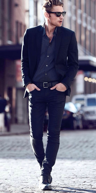 How To Wear Black Jeans With a Black Blazer | Men's Fashion