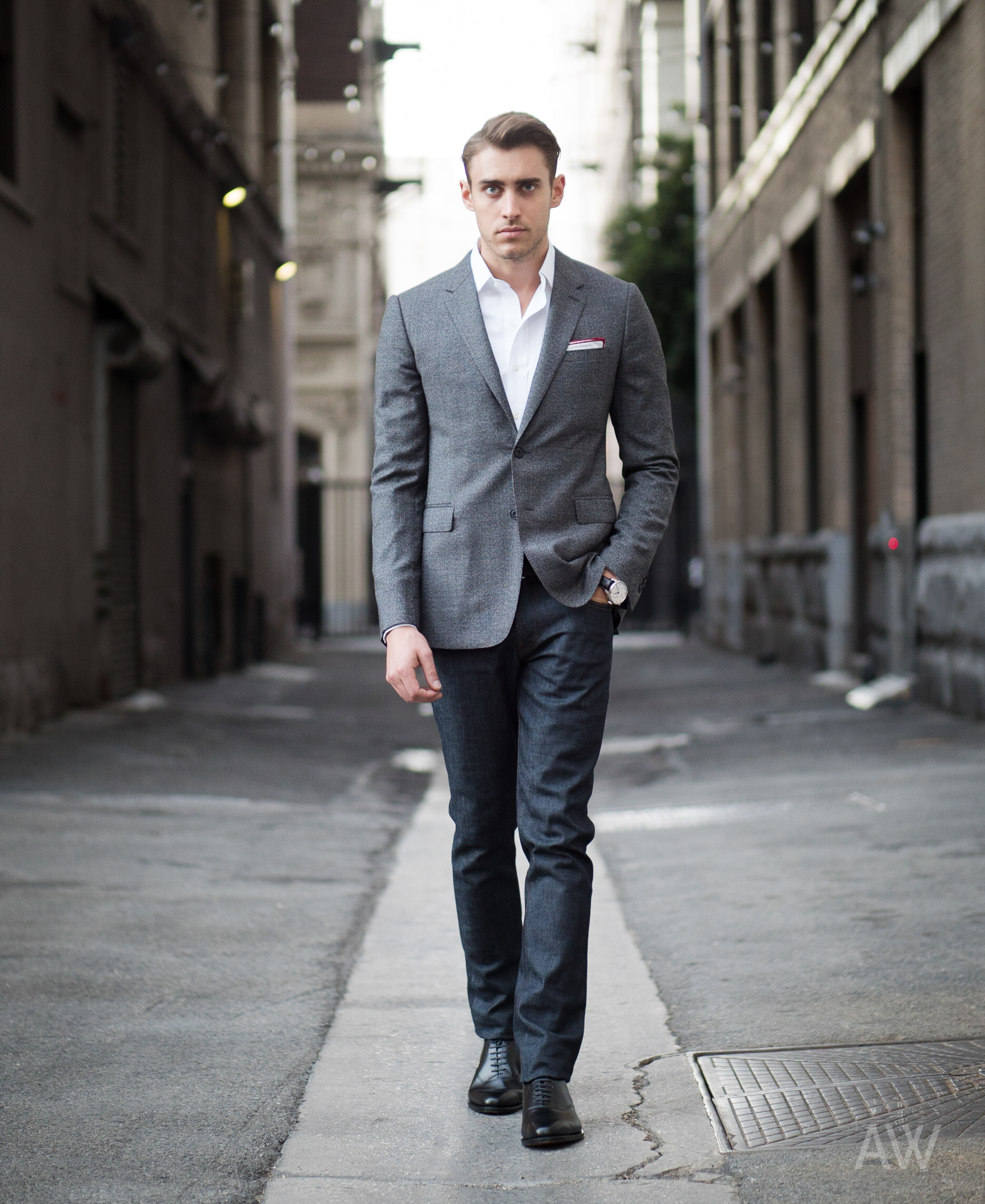 1395d6a6e How To Wear a Grey Blazer With Navy Jeans For Men (139 looks ...