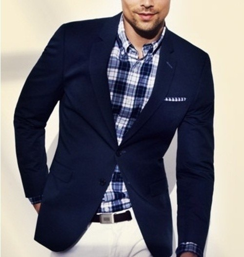 How To Wear a Navy Blazer With White Jeans | Men's Fashion
