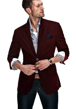 How to Wear a Burgundy Blazer (67 looks) | Men's Fashion