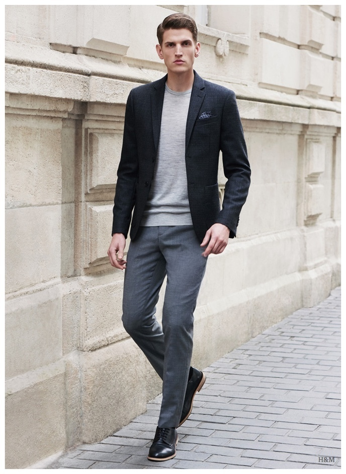How To Wear Black Leather Derby Shoes With Grey Dress Pants 19