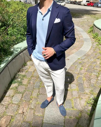 Blue Dress Shoes Summer Outfits For Men