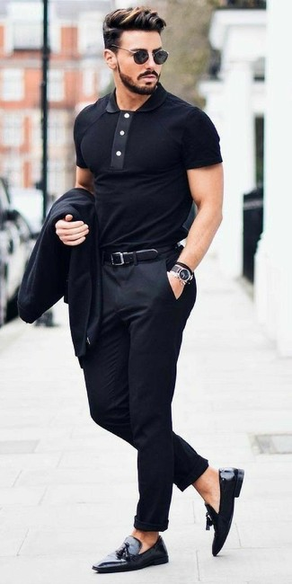 shop for best big discount sale better price Which Polo To Wear With a Black Blazer For Men (10 looks ...