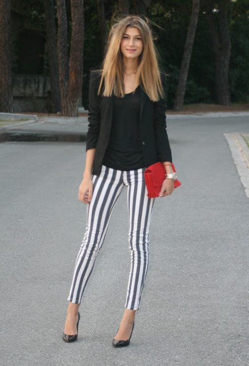 How to Wear Black and White Skinny Jeans (1038 looks) | Women's ...