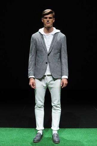 Pantalón chino blanco de Saint Laurent