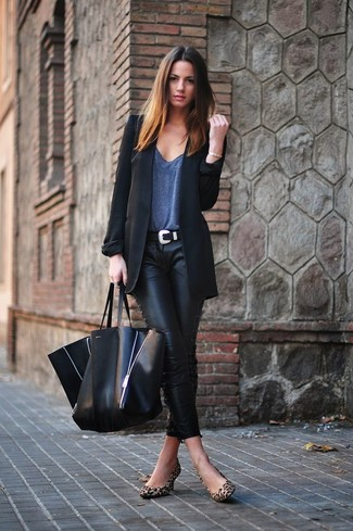 Skinny Lacquered Twill Pants