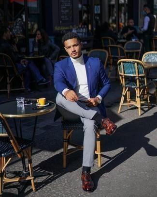With blue color pants what blazer light Men's Blazers