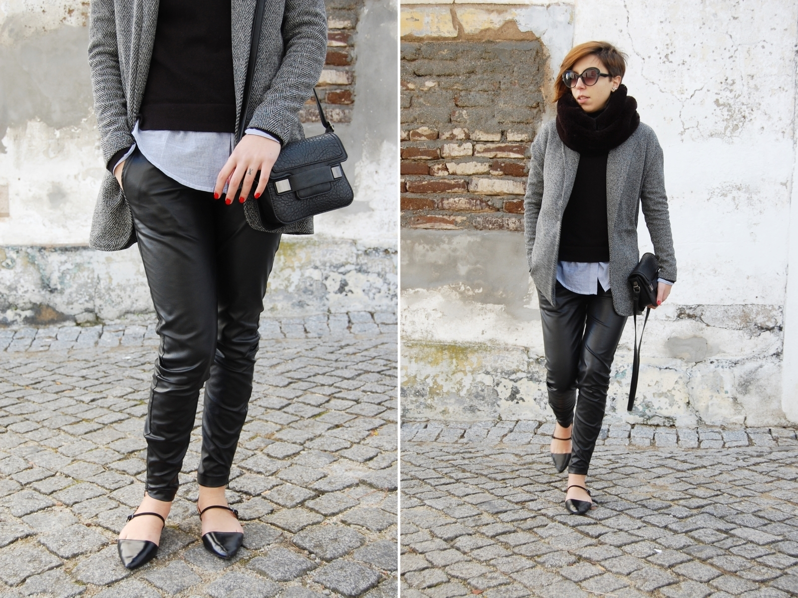 Brilliant Young Woman Looks Comfortable Yet Stylish In Dress Pants With Sneakers