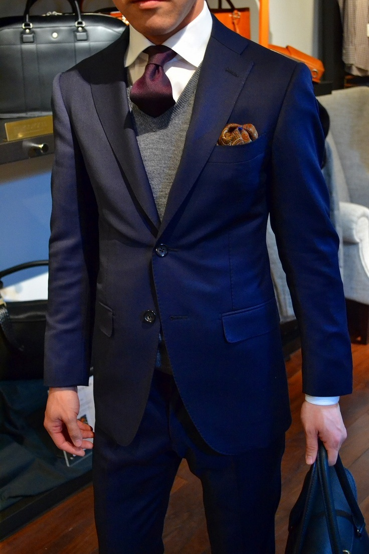 How To Wear a Navy Blazer With a Grey Sweater | Men's Fashion