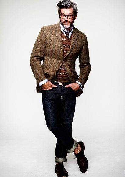 Blazer With v Neck Sweater Fair Isle V-neck Sweater