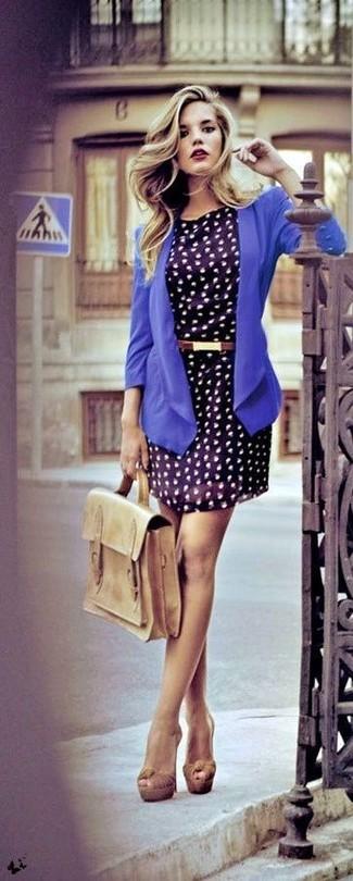 de azul gasa marino de azul zapatos combinar vestido blazer Cómo casual estampado qwp1YXzxE