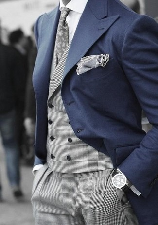 How To Wear a Navy Blazer With Charcoal Dress Pants | Men's Fashion