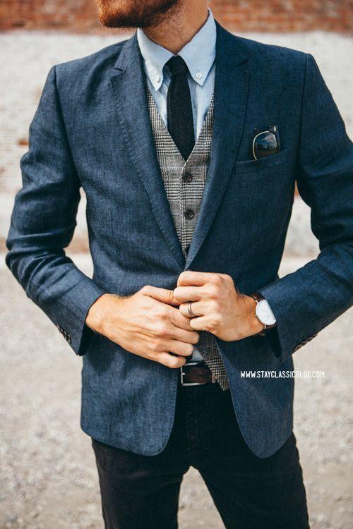 Blazer waistcoat tie long sleeve shirt jeans belt original 7438 jpg