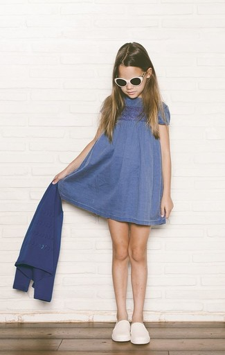 Denim Heart Pocket Dress