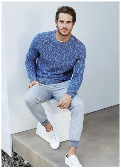 How to Wear a Blue Crew-neck Sweater (227 looks) | Men's Fashion