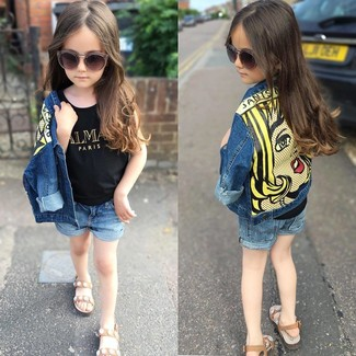 Kids Hula Denim Shorts