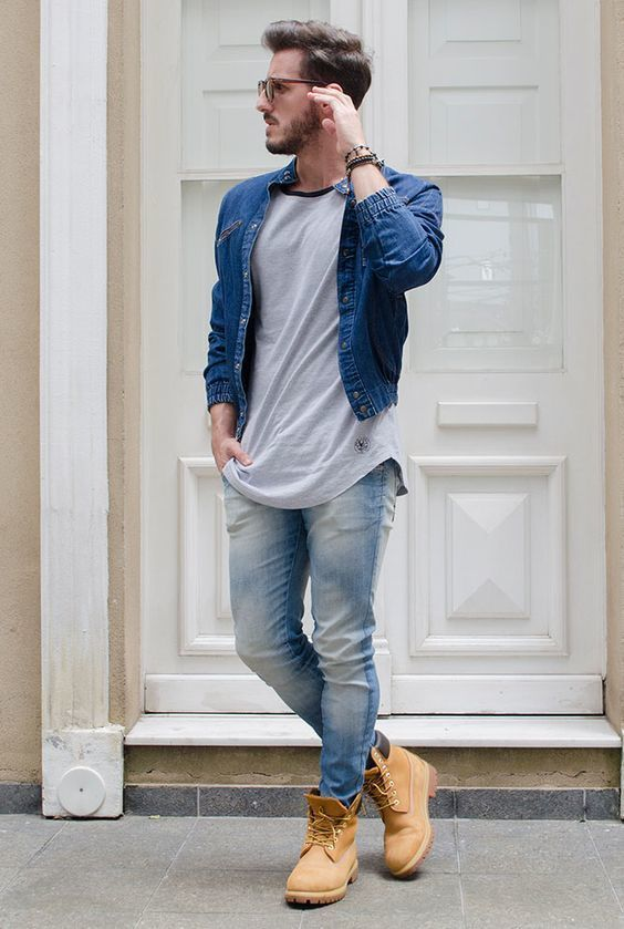 How to Wear a Denim Jacket (253 looks) | Men's Fashion