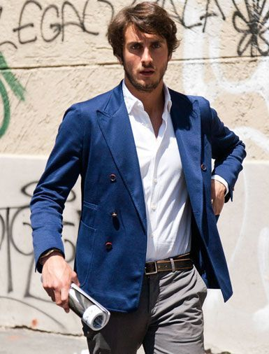 How To Wear a Blue Blazer With Grey Chinos | Men's Fashion