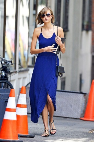 0c27245c3a73 Karlie Kloss wearing Blue Maxi Dress