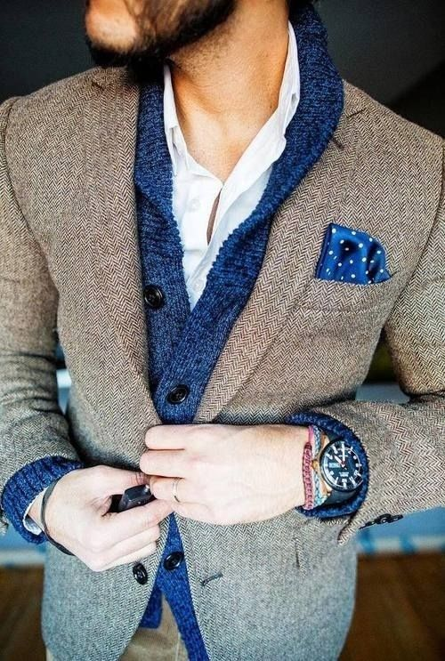 How to Wear a Brown Herringbone Blazer (11 looks) | Men's Fashion