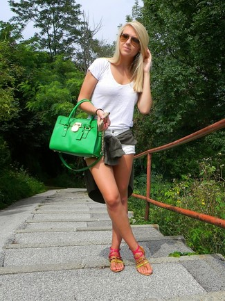 Bolsa tote verde de Givenchy