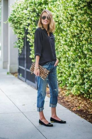Cartera sobre de leopardo marrón claro de Dolce & Gabbana