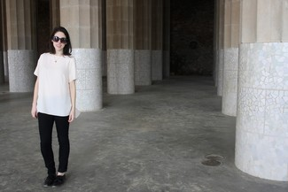 Blusa de manga corta blanca de Burberry