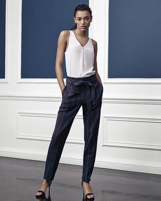 Unos Azules21 De Looks Cómo Verticales Rayas Pantalones Combinar OPkXwTZui