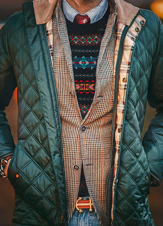 Black Fair Isle Crew-neck Sweater | Men's Fashion