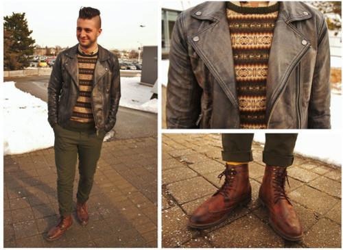 How to Wear a Brown Fair Isle Crew-neck Sweater (8 looks) | Men's ...